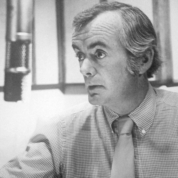 Robert Conley, <em>All Things Considered</em>'s first host, back in the day.