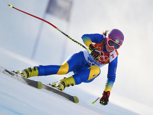 Ukrainian skier Bogdana Matsotska decided not to compete in Friday's slalom race, in a show of solidarity with protesters in Kiev.