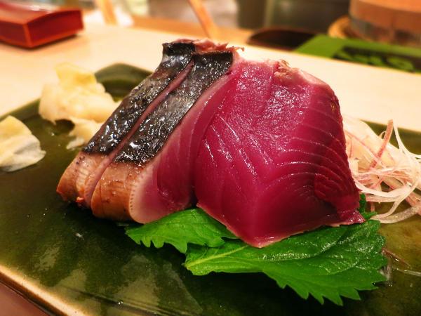 Sashimi from Sukiyabashi Jiro restaurant in Tokyo
