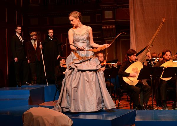 "Jennifer Rivera stars as Penelope in Boston Baroque's ""Il ritorno d'Ulisse in patria."" (Clive Grainger)"