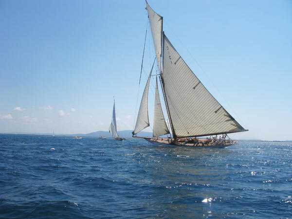 The vintage boats of Argentario Sailing Week, some more than a century old, plied the waters off Italy's Tuscan coast, known for its ideal sailing conditions.