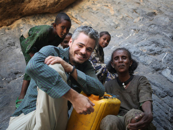 Charity: Water CEO and founder Scott Harrison, on a trip to Ethiopia.