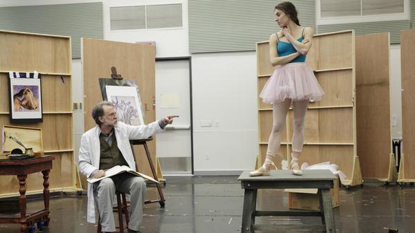 Tony Award-winning actor Boyd Gaines plays Edgar Degas opposite the New York City Ballet's Tiler Peck, as Marie Van Goethem, during a Manhattan rehearsal.