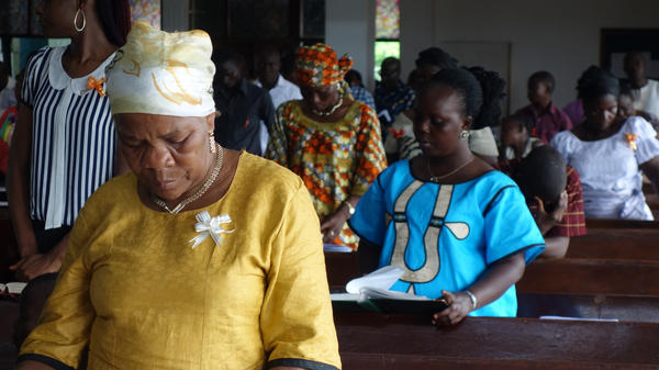 Since the Ebola epidemic started, attendance at Trinity Cathedral in Monrovia, Liberia, has risen by about 20 percent, a church leader says.