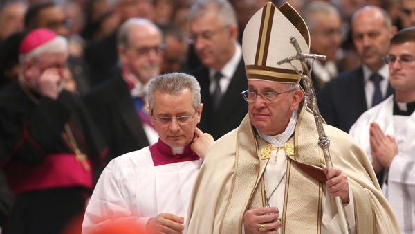 Pope Francis leads the consistory at St. Peter's Basilica in Vatican City. In addition to 15 new electors, Pope Francis named five new cardinals who are over the age of 80 and, therefore, ineligible to vote in a conclave.