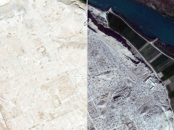 A Web application created by the American Association for the Advancement of Science has tracked the destruction of Dura Europos between 2011 and 2014 using satellite imagery.