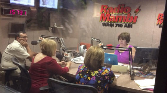 Radio Mambi in Coral Gables, Fla., where the Bush family now lives.