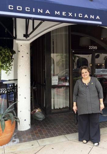 Maria de la Milera outside Talavera, an upscale Mexican restaurant where Bush and his family like to eat.