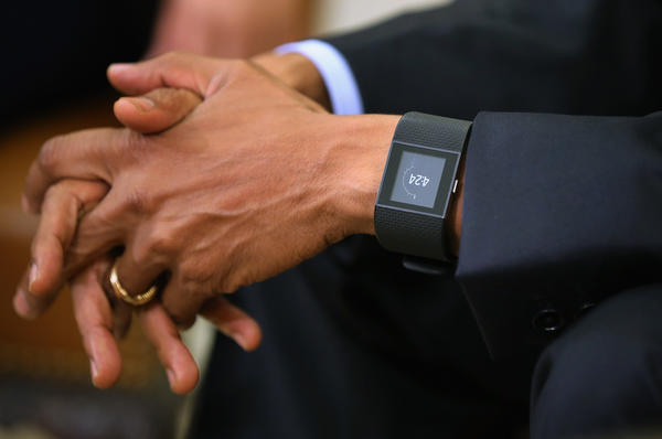 After name-dropping two wearables, President Obama was seen wearing the Fitbit Surge last month.