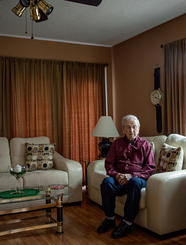 Charlie Cavell at his home in Virginia. He is one of 60,000 World War II veterans exposed to mustard gas as part of secret experiments by the U.S. military.