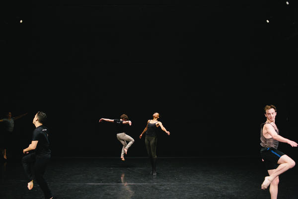 Dancers from the Dance Heginbotham company rehearse at the Baryshnikov Arts Center in July.