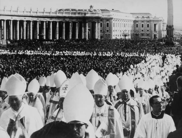 The closing ceremony of the Second Vatican Council in St. Peter Square on Dec. 9, 1965. Forty bishops pledged to forsake worldly goods, but the agreement was largely ignored. Pope Francis' emphasis on helping the poor has revived talk about the Pact of the Catacombs.