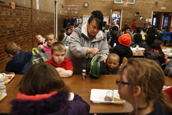 Cyndy Bulson now volunteers at Stocking, helping monitor kids in the morning, serving breakfast and chaperoning field trips.