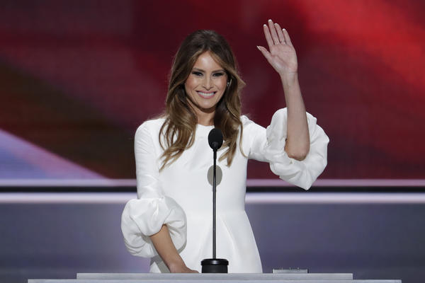 Melania Trump, wife of Republican presidential candidate Donald Trump, speaks during the opening day of the Republican National Convention in Cleveland.