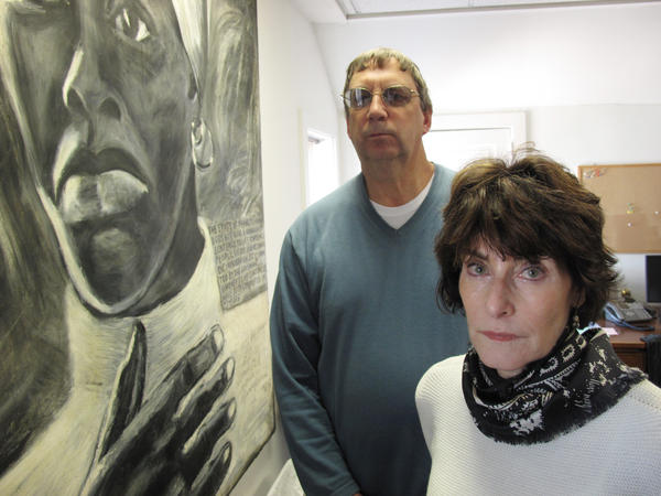 Dave Sprout, a paralegal at the Lewisburg Prison Project, and D. Toni Byrd, an assistant federal public defender and board member for the project, work on behalf of Lewisburg inmates.