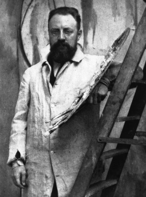 French painter Henri Matisse in his Paris studio.