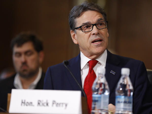 Former Texas governor Rick Perry had his confirmation hearing Thursday as President-elect Donald Trump's pick for secretary of energy. He said he no longer wants to get rid of the agency.
