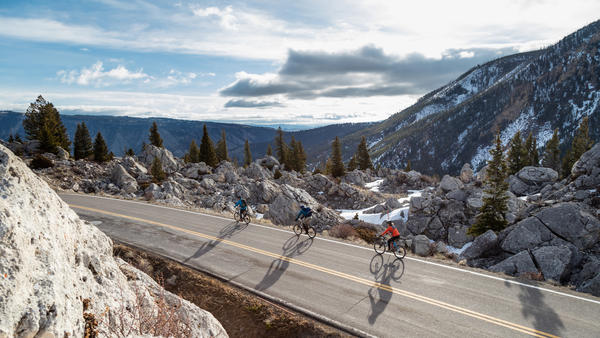 Until April 21, you can ride bicycles through parts of Yellowstone without any cars around.