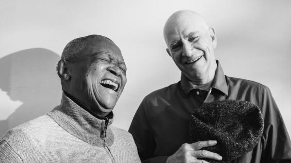 Hugh Masekela and Stewart Levine, more than 40 years after they joined forces to organize Zaire 74.
