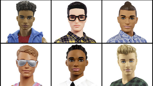 Mattel announced Tuesday that it is introducing 15 new diverse looks for the Ken doll.