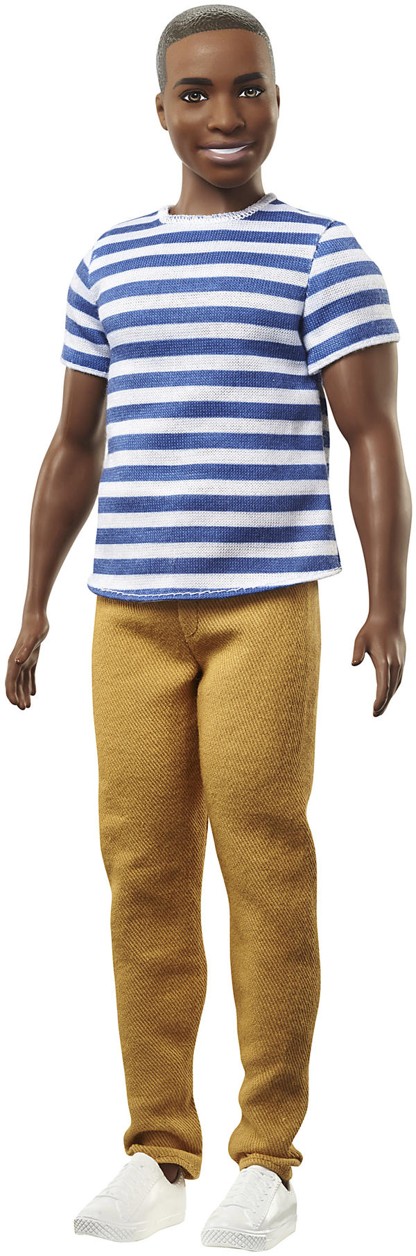 "The ""broad""-bodied Ken is part of a new line of the dolls Mattel rolled out Tuesday. The updated Ken dolls will have a variety of skin tones, body shapes and hair styles."