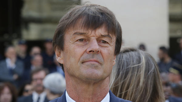 France's environment minister, Nicolas Hulot, photographed on Wednesday, announced an ambitious plan on Thursday to ban the sale of all diesel and gas vehicles in France by 2040.