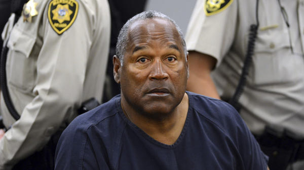 O.J. Simpson during a break in a court hearing in Las Vegas in 2013. Simpson is up for parole after nearly nine years in prison on charges stemming from a bid to retrieve sports memorabilia.