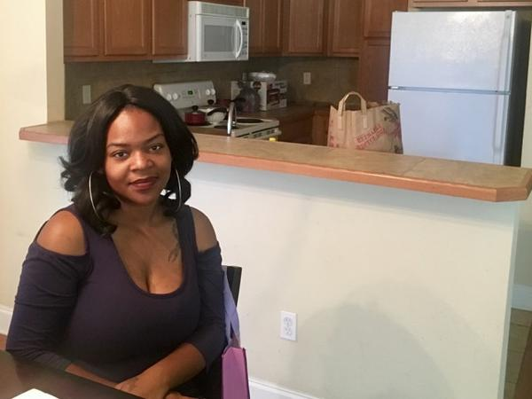 Afrika Rone and her daughter were displaced by the 2016 floods. They're still looking for a permanent home, with help from the state's Rapid Rehousing program.