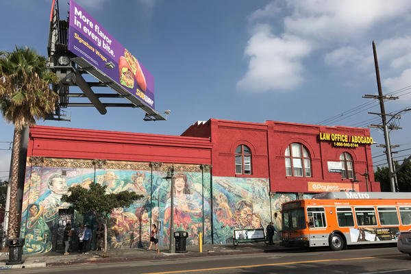 <em>El Corrido de Boyle Heights</em>, or <em>The Ballad of Boyle Heights</em>, was painted in 1983 by the East Los Streetscapers, an artist collective that painted a number of murals across Los Angeles' Boyle Heights neighborhood.