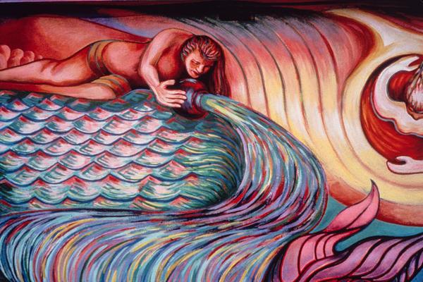 Detail of <em>Resurrection of the Green Planet </em>by Ernesto de la Loza.