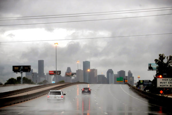 Rain from Hurricane Harvey batters Houston. Harvey is expected to dump upwards of 40 inches of rain in Texas over the next couple of days.