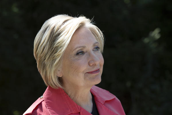 Hillary Rodham Clinton at the Glazier Arboretum Park where she often likes to hike in Chappaqua, N.Y.