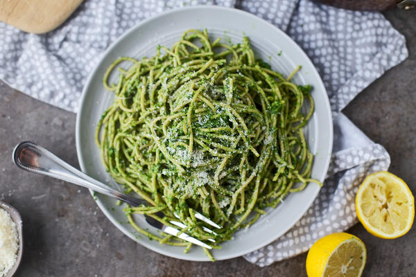 Some bean-based pastas mix in vegetables such as kale, caulilower and spinach.