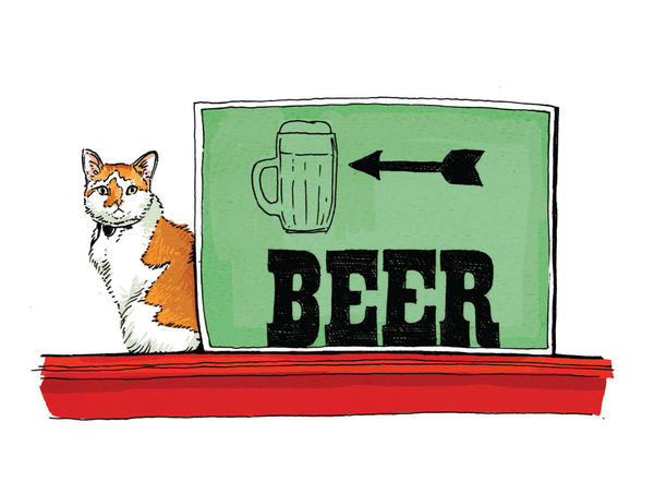 Brewster the Brewery Cat, of The Guardian Brewing Co. in Muncie, Ind., is a husky, middle-aged, orange Creamsicle–colored feline who enjoys tuna and sleeping in cardboard boxes.
