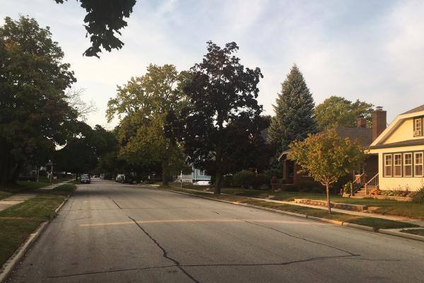 Wisconsin Sen. Van Wanggaard's leafy neighborhood in Racine, Wis.