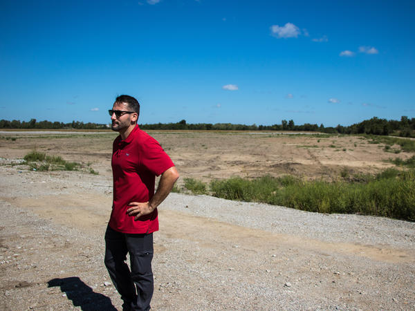 Quapaw Assistant Environmental Director Craig Kreman stands in a section of the Tar Creek Superfund site where remediation efforts are nearly complete.