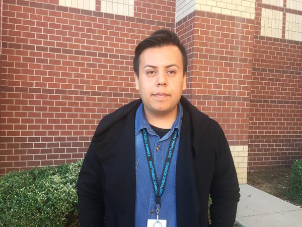 Isaias Vasquez is undocumented and pays in-state tuition to attend college part-time.