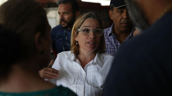 San Juan Mayor Carmen Yulin Cruz deals with an emergency situation in a San Juan hospital that lost power Saturday.