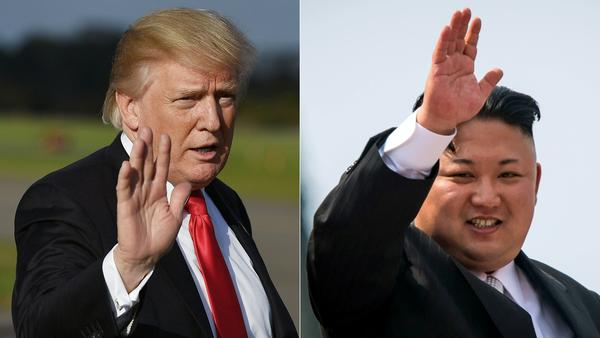 President Trump in Morristown, N.J., in September and Kim Jong Un following a military parade in Pyongyang earlier this year.