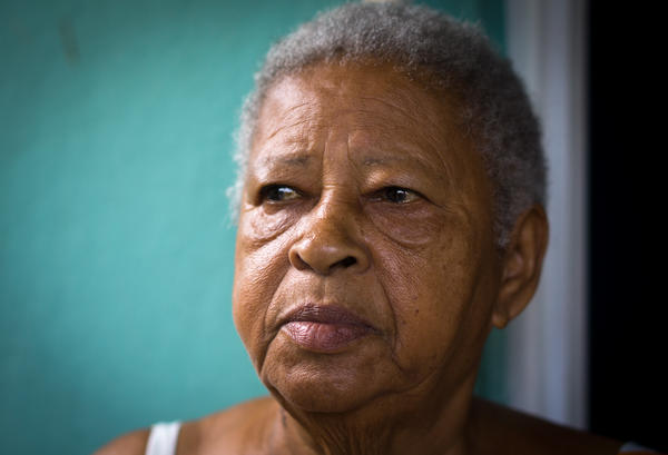 Rafaela Pizarro Parrilla, 82, suffers from diabetes, was admitted to the hospital after the storm because of low blood sugar. Her daughter and caretaker, Maria, is concerned about the lack for electricity in Playita and is considering  moving Rafaela to the mainland.