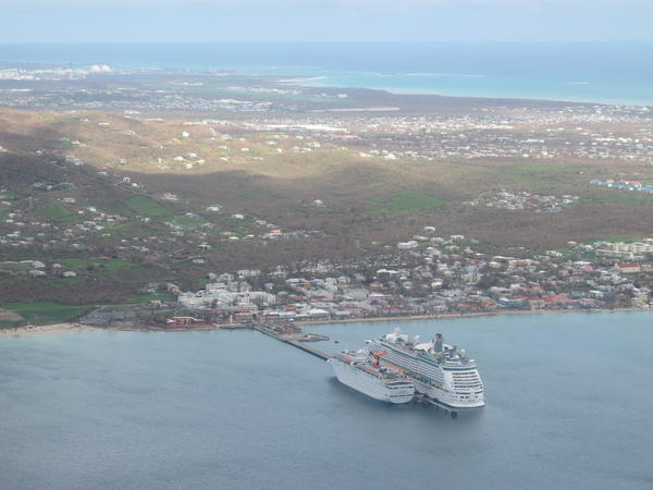 Ships in the port in St. Croix.