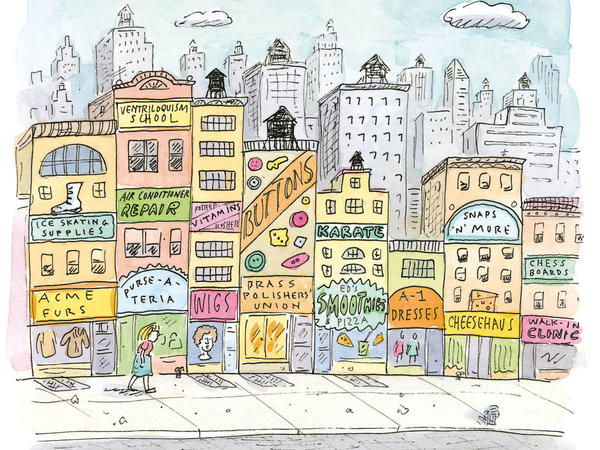 "Cartoonist Roz Chast says she is inspired by the activity and commotion of New York City: ""Everything seems to suggest stories."""