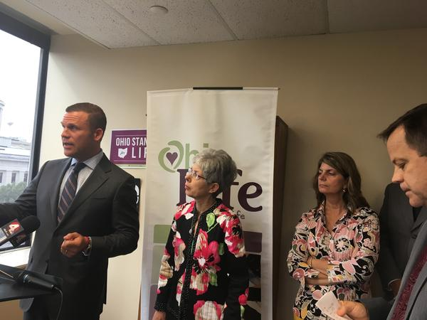 Abortion opponents hold news conference inside Ohio Right To Life offices