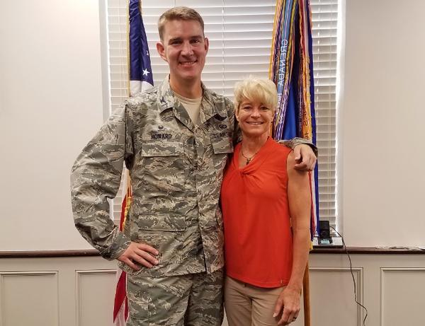 Col. John Howard, the new commander of the 375th Air Mobility Wing and his wife, Dana, a retired Air Force colonel.