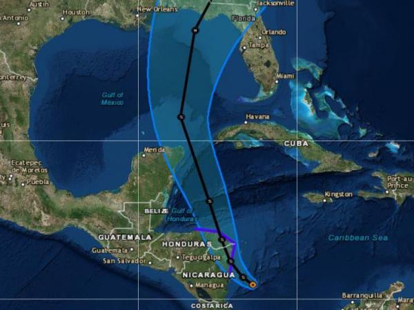 The current forecast track calls for the storm to thread its way between Cancún, Mexico, and the western coast of Cuba.