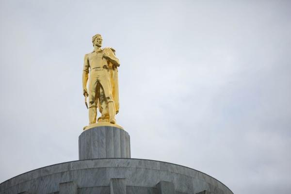 <p>The Oregon Capitol in Salem.</p>