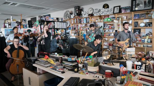 Landlady plays a Tiny Desk Concert on July 7, 2017. (Claire Harbage/NPR)