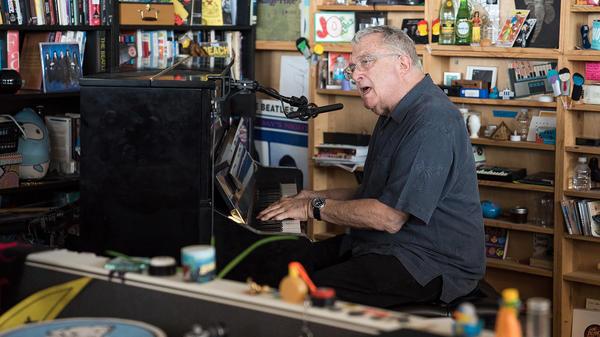 Randy Newman performs a Tiny Desk Concert on August 2, 2017. (Photo: Liam James Doyle/NPR)