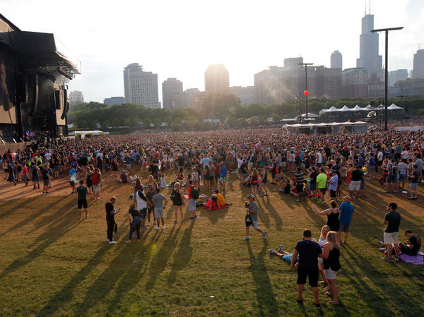 Authorities say the Las Vegas gunman may have considered other music festivals to target, including Chicago's Lollapalooza, shown here in July 2016.
