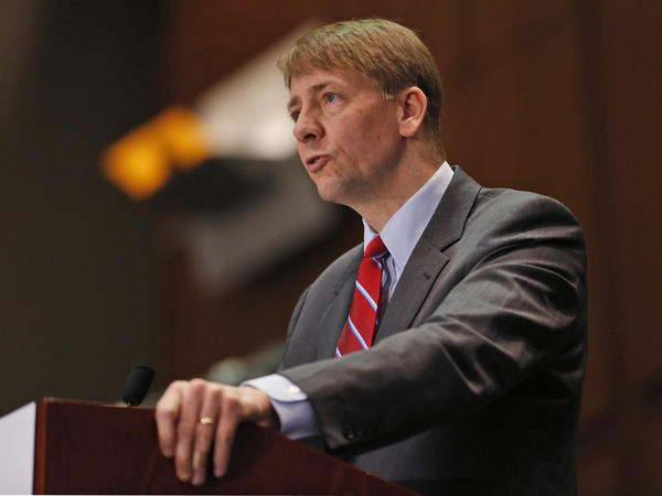 Consumer Financial Protection Bureau Director Richard Cordray speaks during a panel discussion in Richmond, Va., in 2015.